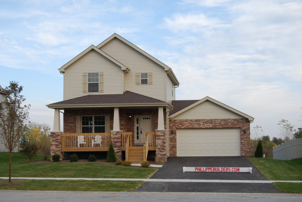 Featured home of the month the baybridge phillippe builders for Two story farmhouse oak park